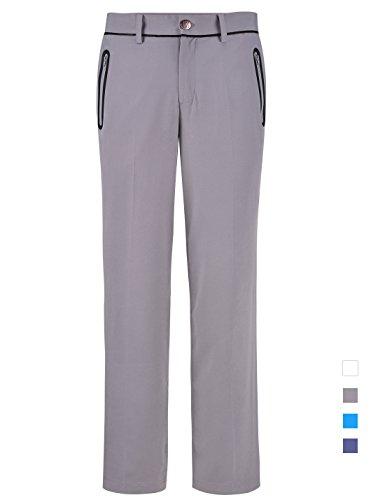 Golfhosen Herren Dünne Lang Sommer Hose Performance Dry Fit Regular Fit Größe 32W/32L Taille 81cm Grau 1 (Performance-stretch-hose)