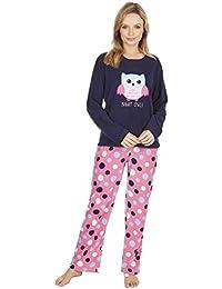 KATE MORGAN Ladies Soft & Cosy Fleece Pyjamas