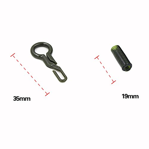 Pygex (TM) Professional 50Pcs clips plomb withTubes forts Pšºche Durable Retour Clips Lead Carp Fishing Tackle Outils
