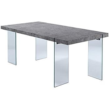 Esstisch Betonoptik cavadore esszimmertisch 190 cm großer und moderner esstisch