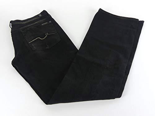 7 For All Mankind Damen Jeans Hose schwarz Bootcut Baumwolle Gr. 32