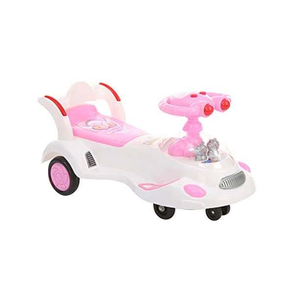 Twist car Swing car Children's 1-3-6 Years Old Men And Women Baby Universal Wheel Yo Car With Music Swing Car Baby Scooter FANJIANI (color : Pink, Size : Silent wheel) Twist car  1