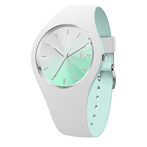 Ice-Watch - ICE duo chic White aqua - Weiße Damenuhr mit Silikonarmband - 016984 (Medium)