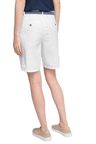 ESPRIT Damen Short Weiß (White 100)