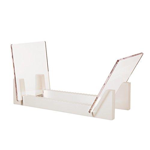 KAIU Schallplatten Aufbewahrung | Kiefernholz mit robustem transparentem Acrylhalter | Premium Design Geeignet 12