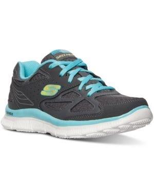 1 Mädchen Größe Skechers Schuhe (Skechers Align Mädchen Appeal grau Größe 32)