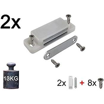 Schrank 72 mm T/üren 3 St/ück Magnetischer T/ürriegel f/ür Schrank Schr/änke Schlie/ßer 20 kg