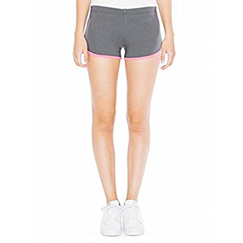 American Apparel - Short - Femme Asphalt / Fuchsia