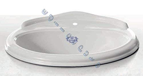 Sanitari bagno lavabo da incasso soprapiano bianco Windsor in ceramica