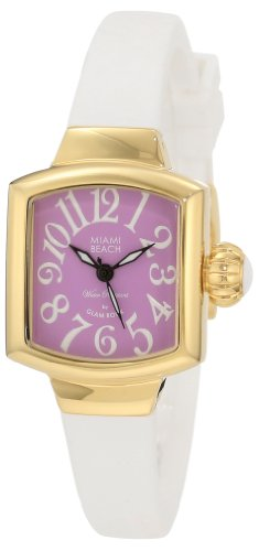 Glam Rock MBD27130 - Reloj de Pulsera Mujer, Silicona, Color Blanco