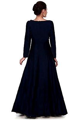 Salwar Style Women's Gown (Bh2135_Navy Blue_Free Size)