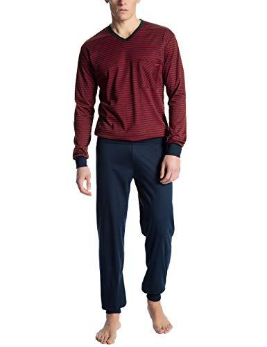 Calida Herren Relax Streamline 1 Zweiteiliger Schlafanzug, Rot (Rumba red 159), X-Large (Herstellergröße:XL)
