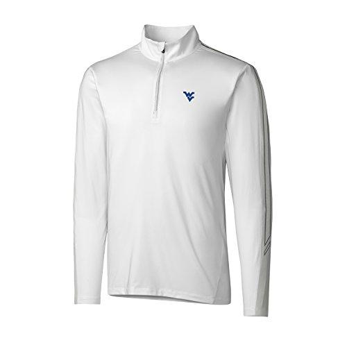 Cutter & Buck Pennant Sport Half Zip, Herren, CB DrytecTM Pennant Sport Half Zip, weiß, Medium - Cutter & Buck Mesh Pullover