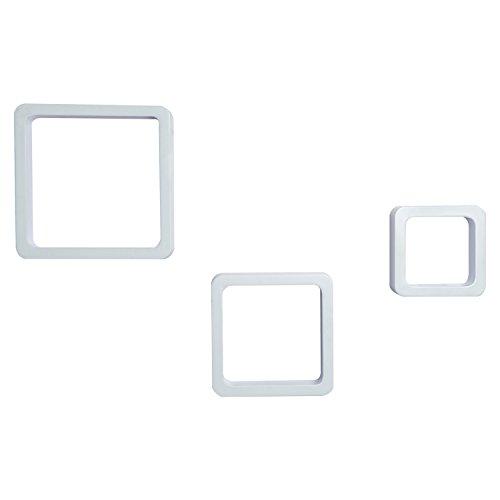 HomCom Juego de 3 Cubos Estantes de Pared Estantería para Libro CDs Baldas Flotantes Decorativo - Blanco
