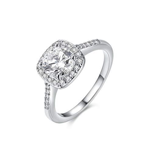 HDCooL Fashion Bridal Jewelry Round Zircon Ring Marriage 7#