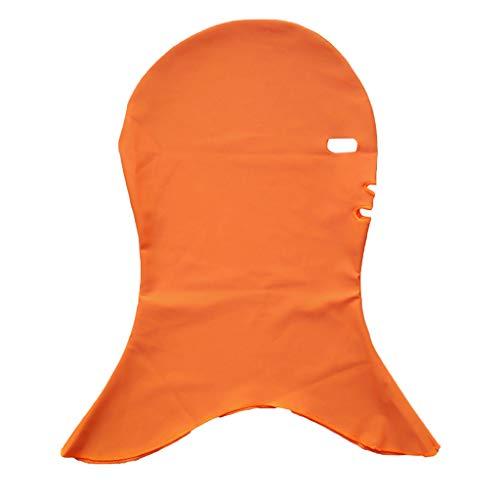 Bademütze Männer Maske Facekini Sunblock Sportler Tauchen Schnorcheln Badekappe Sonnenschutz UV-Schutz Herren Schwimmhaube Sport im Freien(Orange,Free)