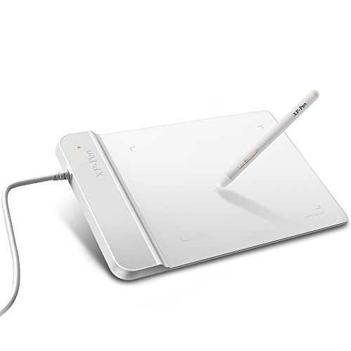 XP-Pen G430 osu Grafiktablett Drawing Stift Tablett (G430, Weiß)