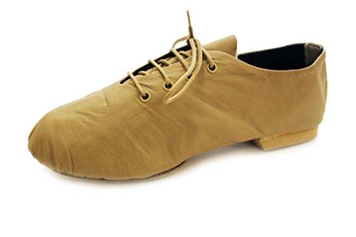 Dance Depot Pro-Line Jazz Schuhe mit geteilter Wildledersohle Weiß