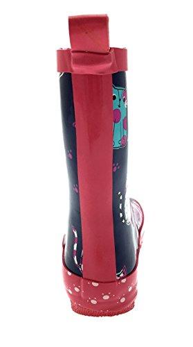 Lora Dora Bottes de pluie en caoutchouc pour fille Motifs chevaux chats pois léopard cupcakes Taille 21-31 Multi Cats