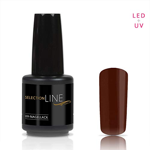 Selection Line UV Vernis à Ongles Chocolate Brown 15 ML de Premium Gel Nail Polish 7ml Nail Art