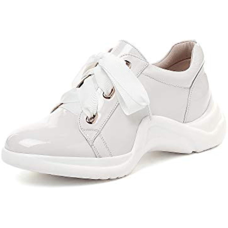 SMILINGGIRL Chaussures Casual Femme Chaussures En Cuir Cuir Cuir Verni Style Collégial Sangle Avant Fond Épais Chaussures... - B07H4J9X44 - bf59bf