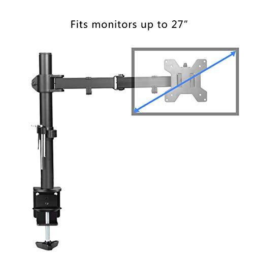 comprare on line SuptekHeavy Duty singolo monitor LCD a schermo piatto staffa di supporto per 33- 68,6cm protezione con tilt ± 15°, rotazione di 360° e braccio girevole a 180° estraibile–Max VESA 100x 100 MD6421 prezzo