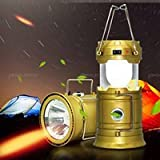 #2: CONNECTWIDE® 6+1 LED Solar Emergency Light Lantern,LED Rechargeable Camping Lantern with USB Mobile Charging +Torch point, 2 Power Source Solar, Lithium Battery.