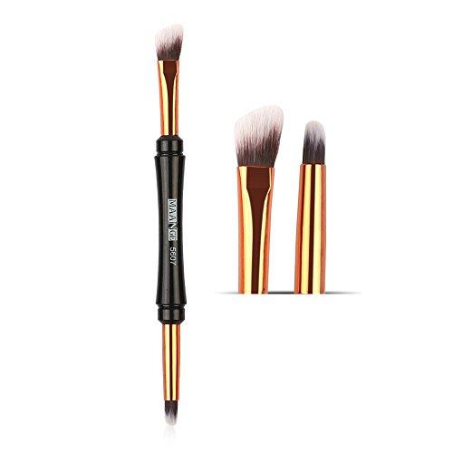 DaySing Brosse Pinceaux Maquillage,Pinceau De Maquillage Double-End Eye-Shadow Eyelash Brush Applicator Outil De Maquillage CosméTique Poils Synthetiques Doux Et sans Cruauté