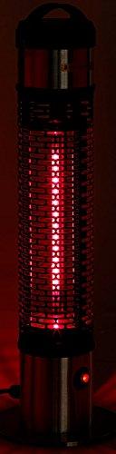 Semptec Tisch-Heizstrahler: Wetterfester 360°-IR-Standheizstrahler/Heizsäule IRW-800, IP55, 800W (Beistell Heizstrahler) - 3
