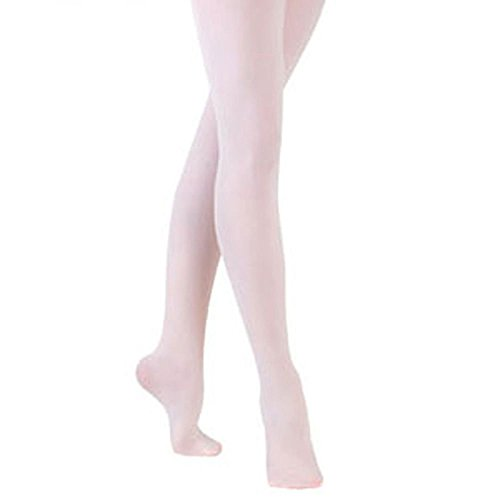 Sock Snob - 1 Pair of Luxury Girls and Adult footed Ballet Tights, Pink or White
