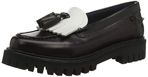 Tommy Hilfiger Iconic Polished Loafer, Zapatos de Tacón para Mujer, RWB 020, 38 EU