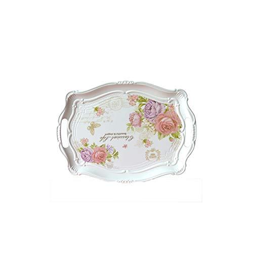 Chinashow - vassoio rettangolare in melamina, decorato a mano, motivo floreale