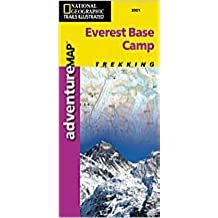 Carte touristique : Everest Base Camp (en anglais)