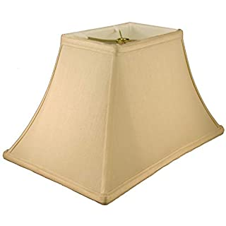 American Pride Lampshade Co. 72-78094214 Rectangle Soft Tailored Lampshade, Shantung, Honey
