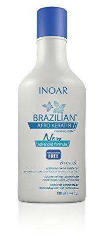 Inoar Brazilian Afro Keratin Smoothing System New Formula 250 ml