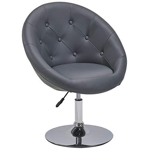 Duhome Sessel Grau höhenverstellbar Kunstleder Clubsessel Coctailsessel Loungesessel - Typ 509A