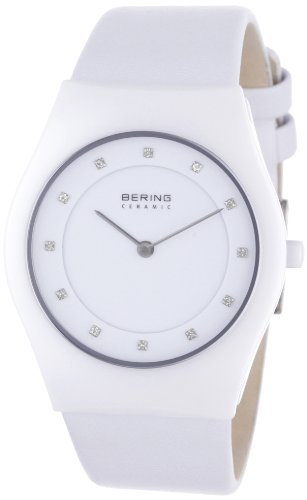 Bering Time Damen-Armbanduhr Slim Ceramic Analog Quarz 32035-659