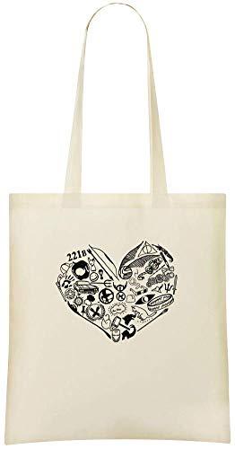 Ein Fan-Herz - A Fan Heart Custom Printed Grocery Tote Bag - 100% Soft Cotton - Eco-Friendly & Stylish Handbag For Everyday Use - Custom Shoulder Bags
