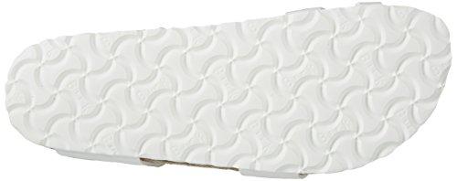Birkenstock Yara Birko-Flor, Tongs Femme Weiß (Patent White)