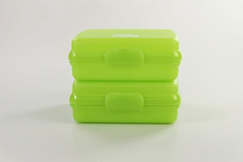 TUPPERWARE To Go Sandwich-Box limette (2) Brotbox Schule Pausenbrotbehälter A126 15193