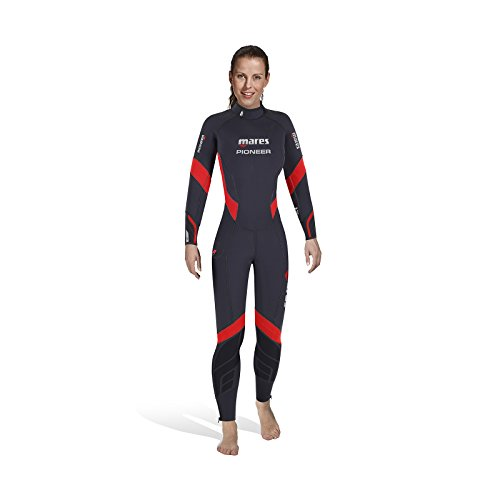 Mares Damen Pioneer 5mm Wetsuit Blue/Red S4
