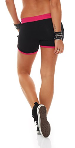 Gennadi Hoppe Short Fitness Femme Hotpants noir/rose