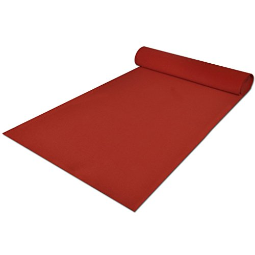 Anself Roter Teppich Red Carpet aus Polyester 1 m x 5 m