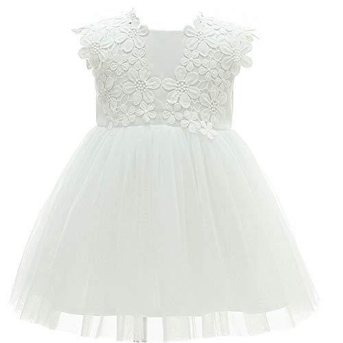 Monimo Baby MädchenTaufkleid Prinzessin Kleid Festlich Kleid Hochzeit Partykleid Festzug Babybekleidung (Besondere Anlass Mädchen Kleider Billig)