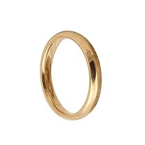 YSoutstripdu einfacher glatter Ring für Mann und Frau