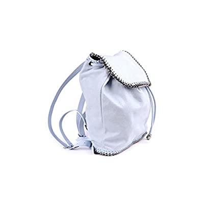 STELLA McCARTNEY FALABELLA LIGHT BLUE BAG - SIZE (cm) : L.30 H.35 W.12 - fashion-backpacks