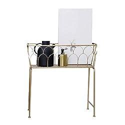 XINGZHE Floor rack, wrought iron modern minimalist versatile hollow high-profile decorative floor rack,61x26x62cm corner shelf (Color : A)