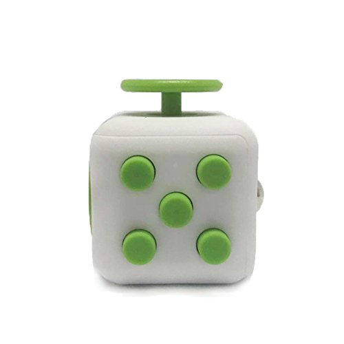 Fidget Cube Ceavis entlastet Stress und Angst für Kinder und Erwachsene Spielzeug Weihnachtsgeschenke (Fidget Cube, White-Green) (Green Cube)