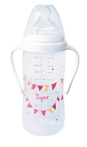 Tigex - Biberón con Asas para Bebés de más de 6 meses, 300 ml