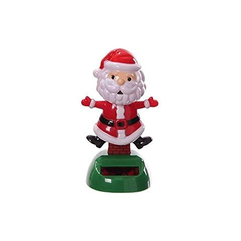 Alimentation solaire () effigie de Noël Père Noël/sapin Père Noël ~Pas besoin de piles